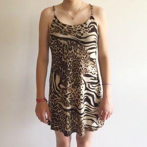 Ocean Blue Cheetah Print Dress